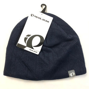 Pearl Izumi Escape Knit Hat Beanie Wool Blend Navy